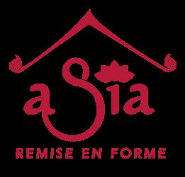Logo asia remise en forme rouge
